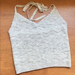 Aerie Chevron Knit Halter Top, S